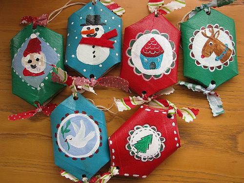 adornos caseros para colgar al rbol de navidad