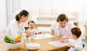 alimentación en familia