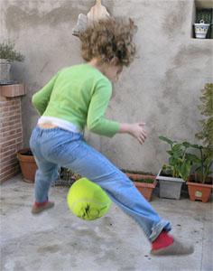 jugando a la pelota
