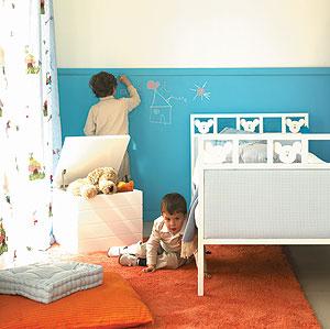 C mo decorar el cuarto de los ni os ole beb - Pintar habitacion infantil nino ...